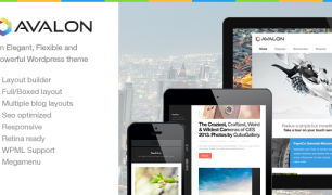 Avalon – A clean and creative wordpress theme